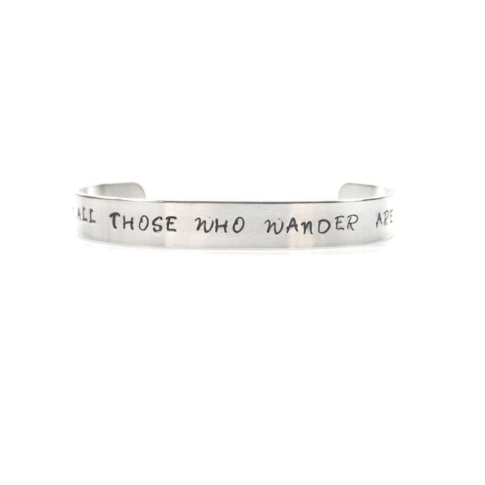 Not All Those Who Wander Are Lost Bracelet / Bangle – Gift Boxed  - Free P&P