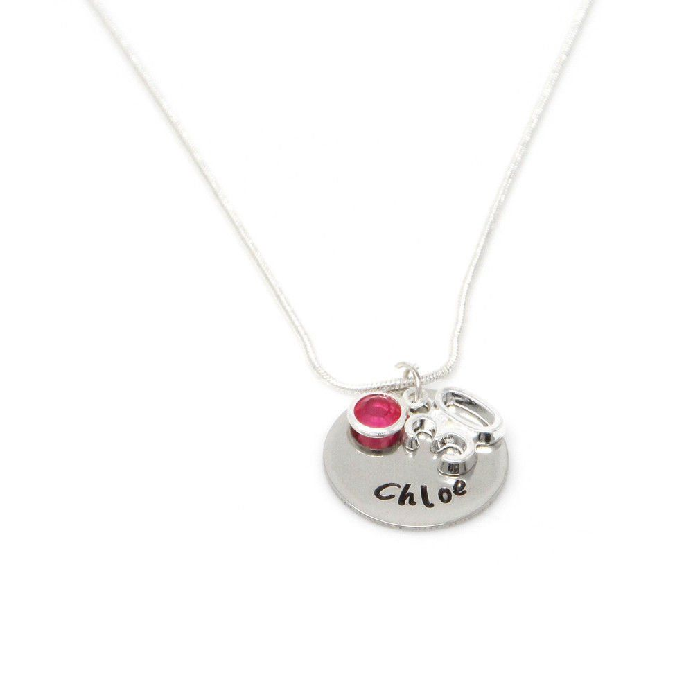 Personalised 30th Birthday Birthstone Necklace - Gift Boxed & Free Delivery UK