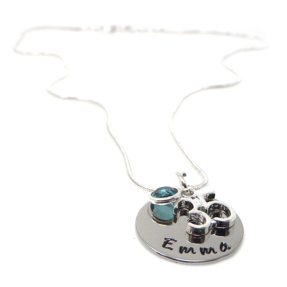Personalised 35th Birthday Birthstone Necklace - Gift Boxed & Free Delivery UK