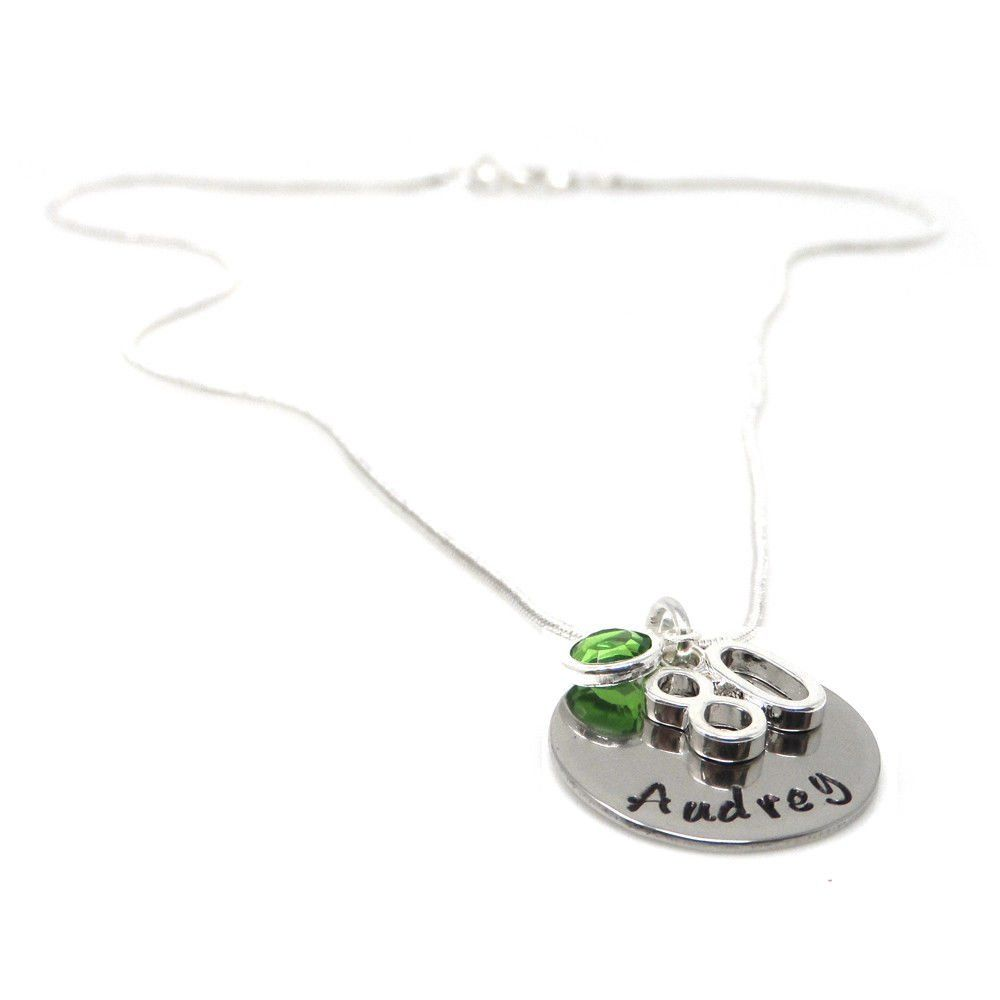 Personalised 80th Birthday Birthstone Necklace - Gift Boxed & Free Delivery UK